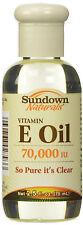 Sundown Vitamin E Oil 70000iu Liquid 2.5oz
