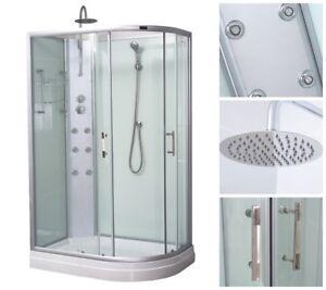 HOME-DELUXE-Dusche-Duschkabine-Duschtempel-Fertigdusche-Eckdusche-Komplett