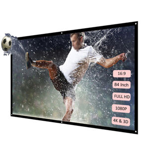 Portable Foldable Projector Screen Theater 1920*1080 HD LCD 1080P Home Cinema