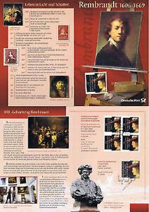 Frg-2006-Rembrandt-Erinnerungsblatt-With-4x-No-2550-Plus-Parallelausgabe-1A