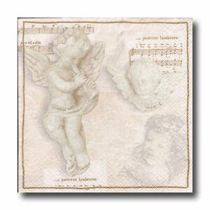 4-Servietten-Napkins-Tovaglioli-Serviettentechnik-Decoupage-Engel-Musik-008