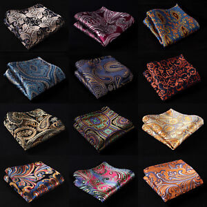 Paisley-Floral-Silk-Mens-Pocket-Square-Hanky-Wedding-Party-Handkerchiefs-B9