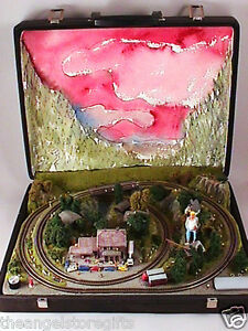 EJ-GOLD-Z-Scale-mini-railway-made-for-White-House-REDUCED-PRICE-see-PROOFS