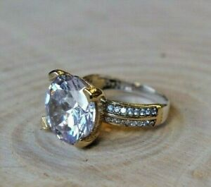 925-Sterling-Silver-Handmade-Gemstone-Turkish-Zircon-Ladies-Ring-Size-7-9