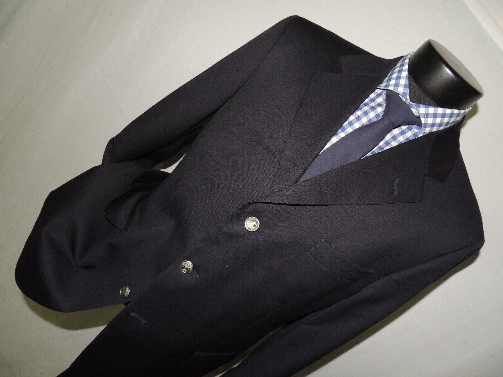 Bill Blass Herren 3 button center vent Blau blazer coat 42 R