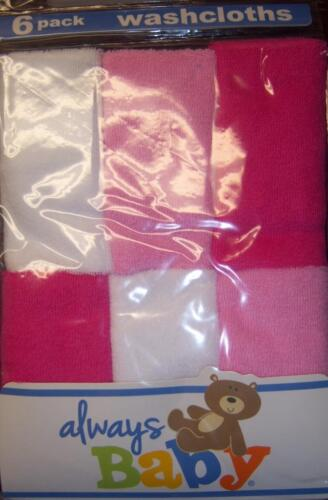 New Girl/'s Always Baby A Trademark of Gerber 6PK TERRY WASH CLOTHS