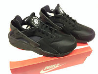 NEW Men's Nike Air Huarache Running Shoes 8-13 Size Black Black-White 318429-003