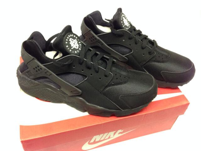the sale of shoes san francisco cheap NEW Men's Nike Air Huarache Running Shoes 8-13 Size Black Black-White  318429-003