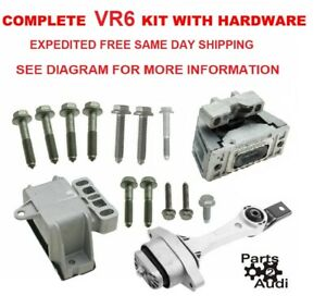 Engine Motor Transmission Mount Kit Set kit for 02-05 Jetta 2.8 VR6 24V BDF  ONLY | eBay | Vr6 Engine Diagram Engine Mount |  | eBay