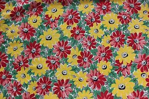 Vintage-c1930-1940-Cotton-Printed-Floral-Fabric-4yds-17-034-L-X-35-034-W-Quilts-amp-Sewing