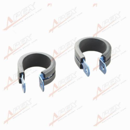 2PCS Aluminum Rubber Cushioned Clamp ID 28.6mm AN16 Vacuum Hose Blue