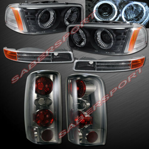 Smoke Taillights for 2000-2006 Yukon Park Signal Halo Projector Headlights