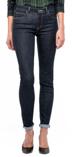 Skinny Lee Scarlett Denim Rinse Donna Pants Jeans scuro blu gamba Stretch Donna qfXxFRwfr