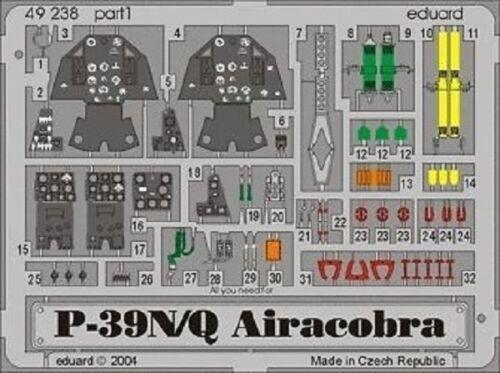 Painted eduard 49238 1//48 Aircraft P-39N//Q Airacobra for Eduard