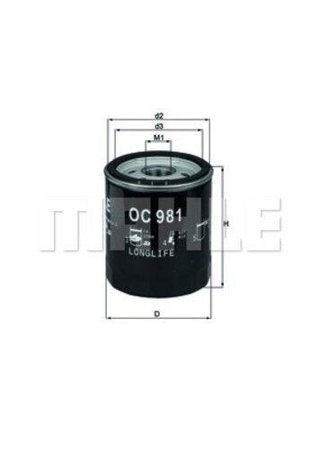 Engine Oil Filter Mahle OC 981