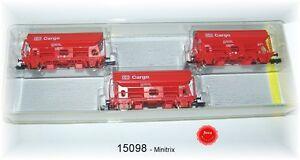 Trix Minitrix 15098 Self Discharge Loading Horizontal Set DB AG 3-teilig#