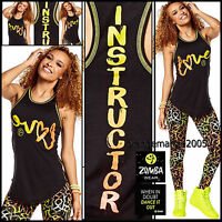 Zumba Instructor Love Tight Tank Racerback Top - A Convention Sold-out S M L