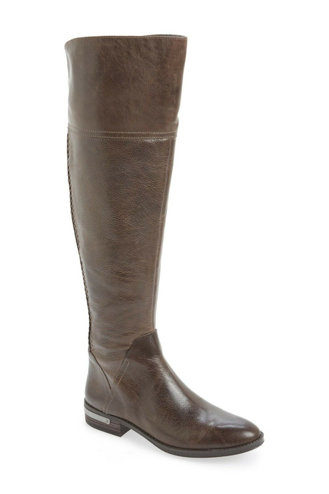 NEU Vince Camuto Pedra Over-the-Knee Boot Grau Distressed Leder, Größe 6.5 229