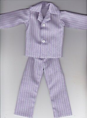 Homemade Doll Clothes Multiple Colored Dots Print Button Pajamas fit Ken KP4