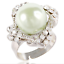 Fashion Jewelry Réglable en Alliage Multi Couleur Strass Pearl Flower Finger Ring