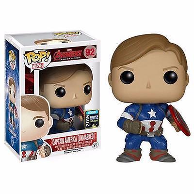 The Avengers Captain America Unmasked 2015 Comic Con Exclusive Funko Pop! Vinyl