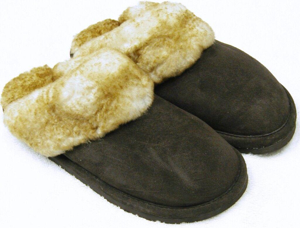 Women 7 SHEEPSKIN Scuff Slipper Shoe Slide  5 6 7 Women 8 9 10 29802d