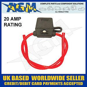 En línea Fusible de cuchilla titular Flip Cover Led advertencia 20 Amp calificación Snip de longitud