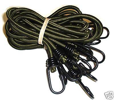"5 PACK 30/"" ELASTICATED BUNGEE CORD travel camping rope shelter building survival"