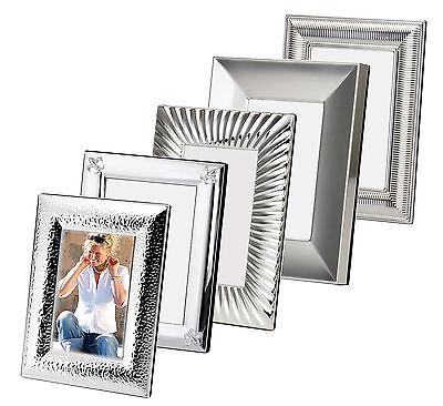 Bilderrahmen Fotorahmen Silber Metall versilbert  10x15 13x18 cm neu