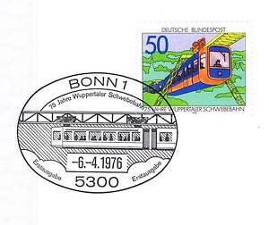 Rfa 1976: Wupper écus Monorail Nr 881 Avec Le Bonner Ersttags Cachet! 1 A 1809-l! 1a 1809afficher Le Titre D'origine
