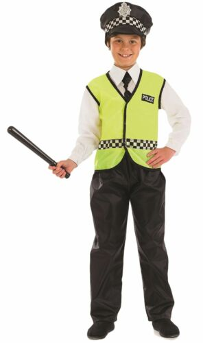 Boys Policeman Police Officer Uniform Book Day Fancy Dress Costume Outfit 412yr