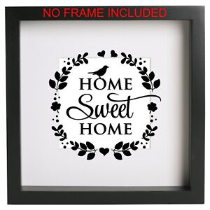 Home Sweet Home Box Frame Sticker Quote Vinyl Decal Ikea Ribba Ect