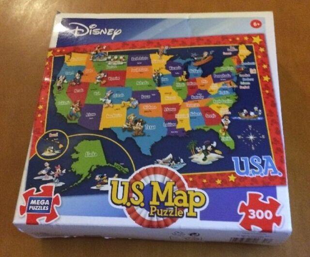Usa Map Puzzles Online.Buy Mega Puzzles Usa Disney Map 300 Piece Puzzle Online Ebay