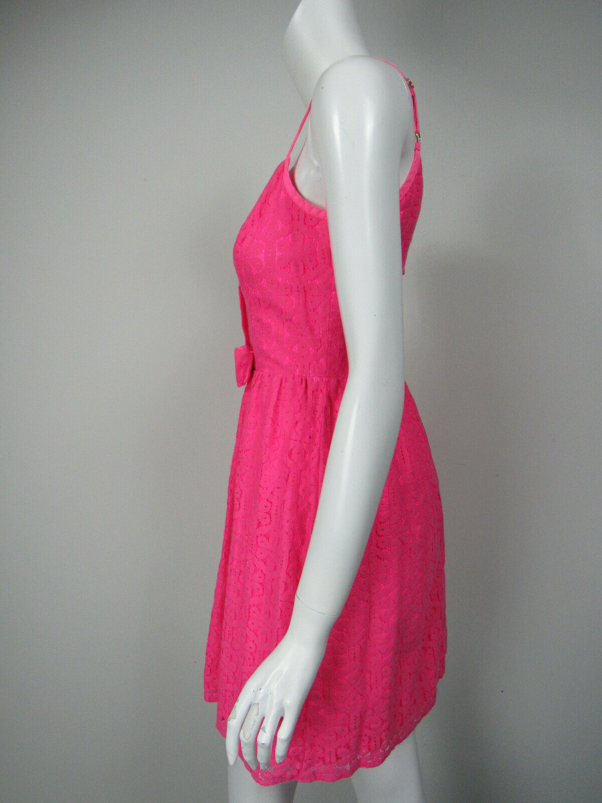LILLY PULITZER Antonia Hot Pink Daisy Lane Lace A-Line A-Line A-Line Mini Dress sz 2 cd19f2