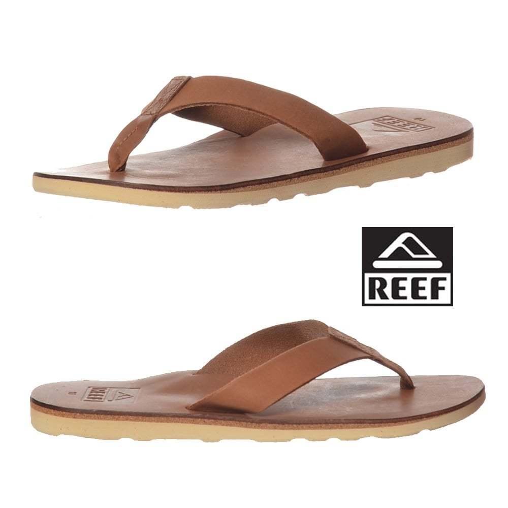 Mens Reef Voyage  Leather Leisure Toe separatori Dark Marronee Dimensione New  migliore qualità