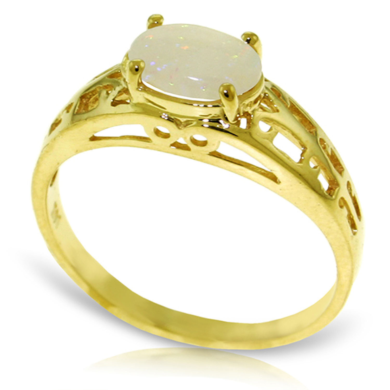 Brand New 0.45 Carat 14K Solid gold Filigree Ring Natural Opal