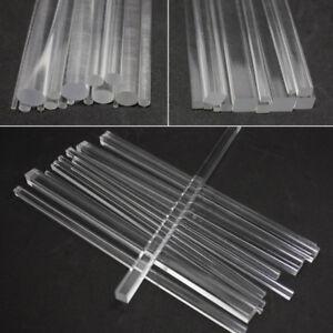 Klar-Acryl-Plexiglas-runden-Stab-kreisfoermigen-Bar-Vierkantstange-Bar