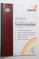 Noritsu Print Processing QSS 2711DLS MP1600 Troubleshoot Manual - English - USED