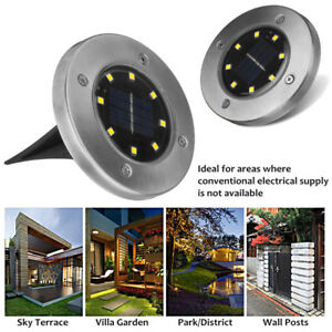 8-LED-Energia-Solar-Buried-luz-terreno-lampara-exterior-VEREDA-salidas-Jardin