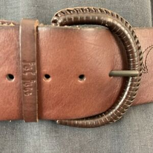 Details about Embroidered Wide Leather Belt Floral by Fat Face M 14 16 18