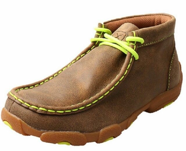 Twisted X Boots Unisex Children/'s  YDM0011 Cowkid/'s Driving Moc Bomber//Neon