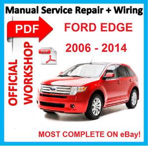 official workshop manual service repair for ford edge 2006 2014 rh ebay es manual de ford edge 2013 español manual de ford edge 2009