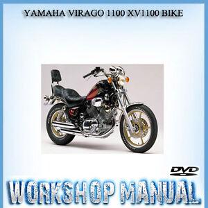 yamaha virago 1100 xv1100 bike workshop service repair manual in dvd rh ebay com au yamaha virago 1100 service manual download 1994 yamaha virago 1100 owners manual
