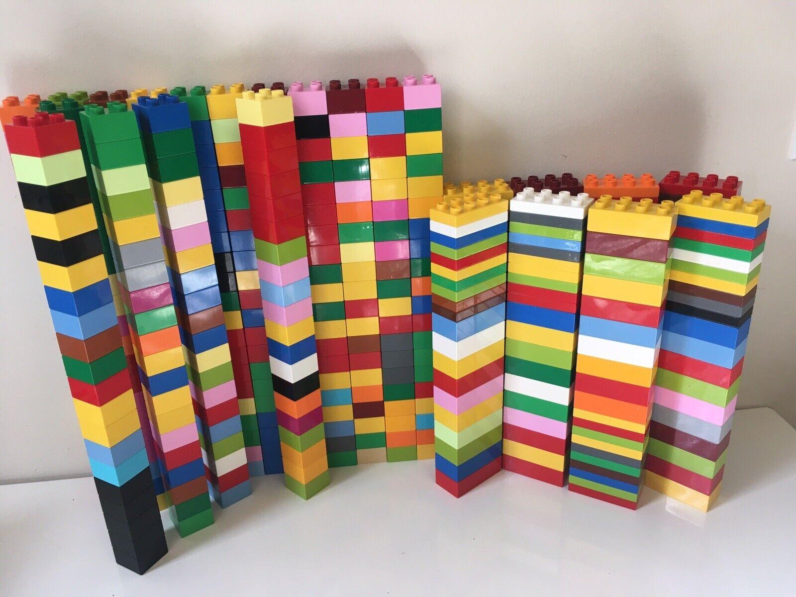 60 Lego Duplo 2X4 bricks red yellow blue green