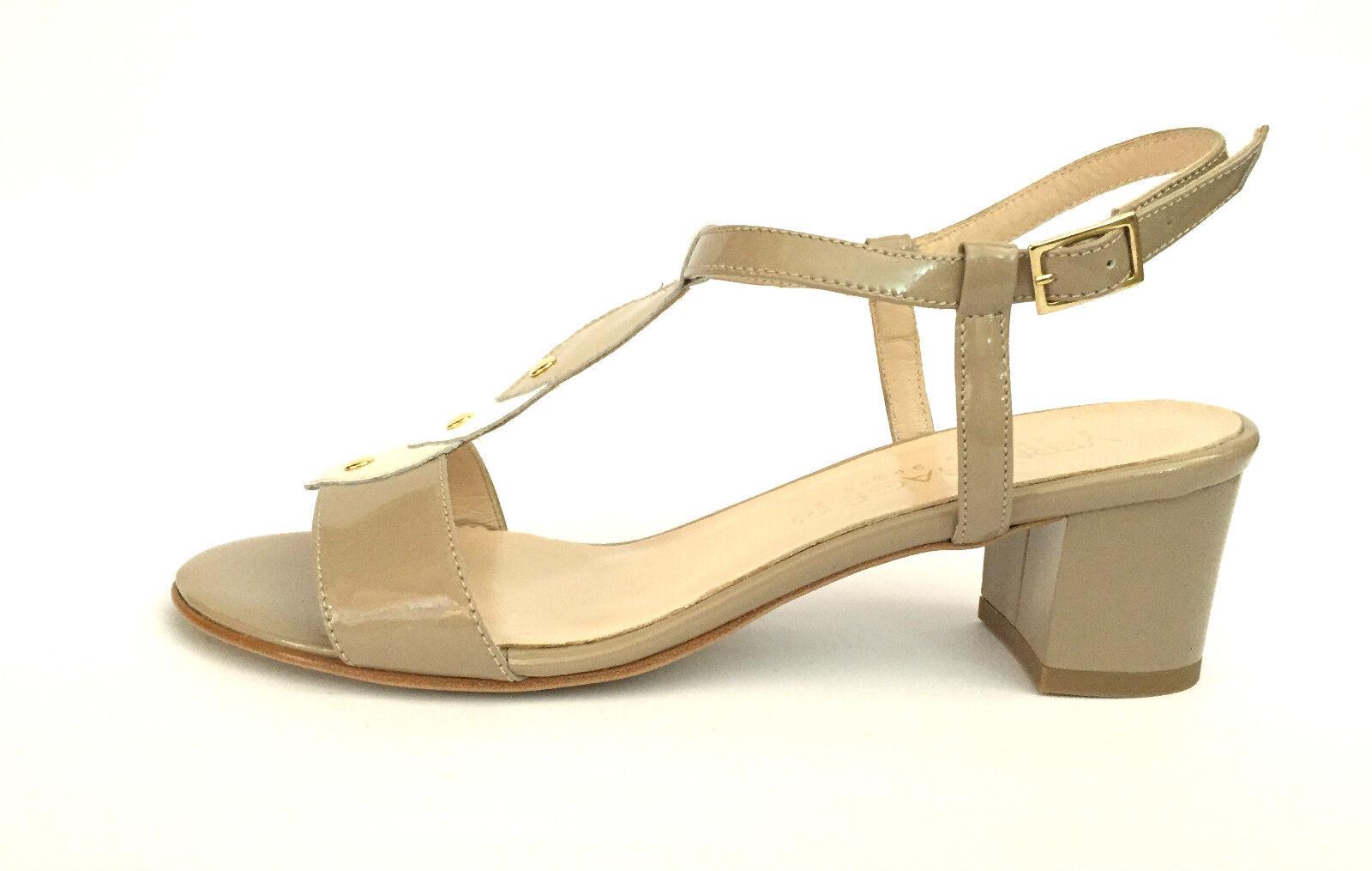 zapatos mujer VERNISSAGE SANDALI ELEGANTI 648 CHAMPAGNE ESTATE SCONTO 50%