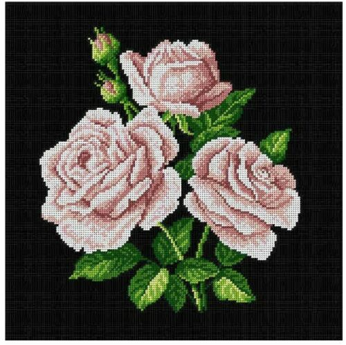 "/""Bouquet of Roses/"" Printed Canvas for Cross Stitch Tapestry  Embroidery 1817"