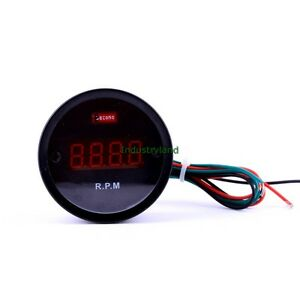 Digital-Red-LED-Tachometer-Tacho-Gauge-RPM-for-Four-Cylinder-Automobile-DC12V-NI