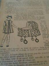 """PATRON ORIGINAL POUR LA POUPEE """" BLEUETTE ROBE TUNIQUE JANVIER 1927"""