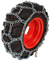 18x6.50x8 Small Tractor H-pattern Tire Chains 7mm Link Snow Blower Traction