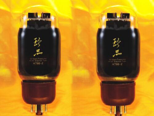 2XShuguang 50 Years Treasure Premium Grade KT66-Z Matched Pair Vacuum valveTubes